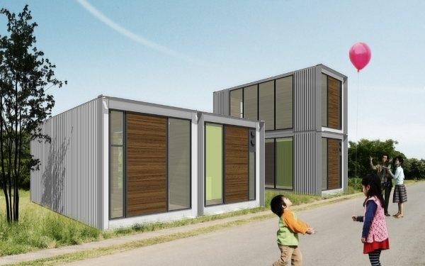 Ex container casas con 2 contenedores de carga blog eraikal - Casa contenedor precio ...